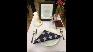 Fallen Comrade Table by Fil A Honors Veterans With Special Place Setting Wsb Tv