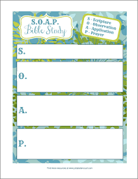 s o a p bible study form printable things i will try