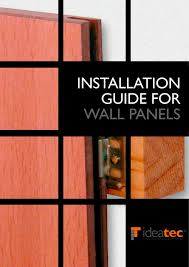 installation guide for wall panels ideatec pdf catalogues