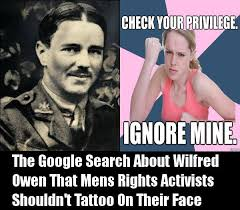 Wilfred Meme - clickbait robot on twitter the google search about wilfred owen