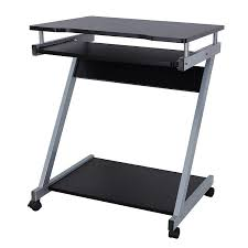 petit bureau noir songmics bureau informatique table informatique meuble de bureau