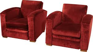 Next Armchairs Pair Of Armchairs In Red Velvet Jacques Adnet 1940s Design Market