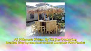 How To Build Tiki Hut How To Build Your Own Tiki Bar Tiki Hut Or Tiki Furniture Youtube