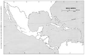Central And South America Blank Map by Blank Outline Maps