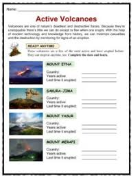 volcano fun facts worksheets u0026 interesting information for kids