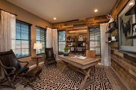 meritage homes home office contemporary with brown patterned rug