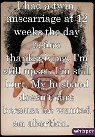 had a miscarriage at 12 weeks the day before thanksgiving i m