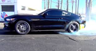 Black 2015 Ford Mustang 2015 Ford Mustang 2 3l Ecoboost Livernois 1 4 Mile Drag Racing