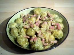 cuisiner le choux recette choux bruxelles aux lardons et à la créme 750g