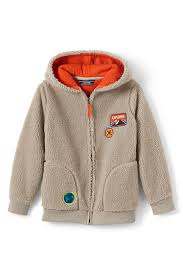 boys solid sherpa lined hoodie from lands u0027 end
