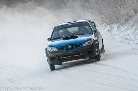 rally subaru snow rally rally promotion finland