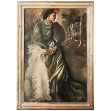 large art deco painting by mariette lydis for