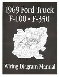 ford 1969 f100 f350 truck wiring diagram manual 69 ebay