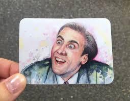 Nicolas Cage Face Meme - nicolas cage meme stickers set funny stickers geek sticker