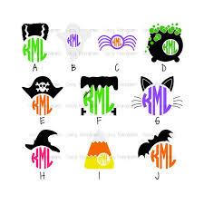 monogram halloween vinyl decal