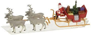 Lighted Santa Sleigh Reindeer Set by Amazon Com Preiser 30399 Christmas Sleigh Includes Santa