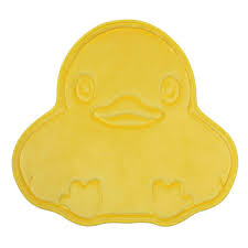 Yellow Duck Bath Rug 24 In X 22 In Polyester And Memory Foam Bath Mat In Yellow Duck