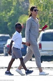 sandra bullock son sandra bullock gives her son louis an affectionate pat daily mail