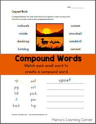 compound words mamas learning corner