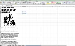 List Of Spreadsheet Software Department Costume And Prop Shop Inventory List Excel Spreadsheet