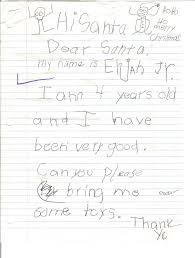 santa letters real letters to santa claus from kids images photos scans of