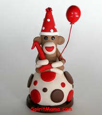 monkey cake topper spiritmama and soul sock monkey smash cake toppers