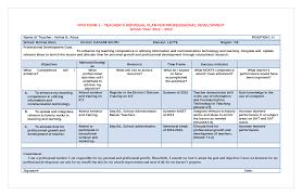 doc900695 individual personal development plan samples of
