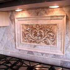 custom kitchen backsplash custom made kitchen backsplash a floral tile by
