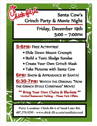 fil a grinch party and movie night u2013 dec 19