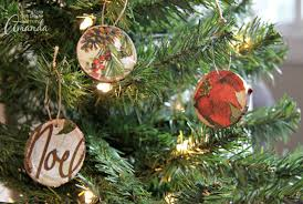 diy wood slice ornaments make your own using napkins