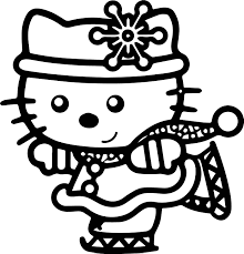 hello kitty slide coloring page wecoloringpage