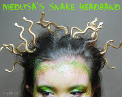Halloween Head In A Jar Diy Halloween Medusa Snake Headband Tutorial The Tiptoe Fairy