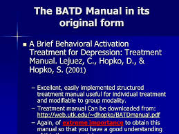 Counselor Treatment Manual Pdf Behavioral Activation Techniques For Depression In A Variety Of