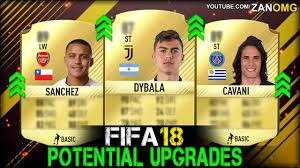 alexis sanchez youtube fifa 18 potential players upgrades prediction ft alexis sanchez