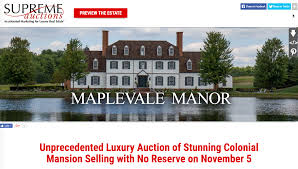 unprecedented luxury auction of stunning colonial mansion selling