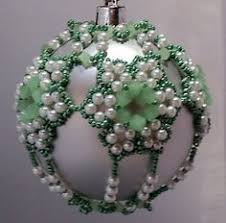tutorial noelle beaded christmas ornament cover seed bead fire