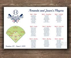 baseball themed wedding baseball themed wedding seating chart printable file