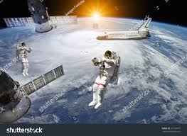 space shuttle astronaut astronauts space shuttle station outer space stock photo 337162577