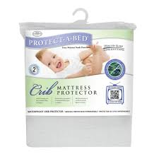Vinyl Crib Mattress Cover by Protect A Bed Premium Crib White Mattress Protector Toys