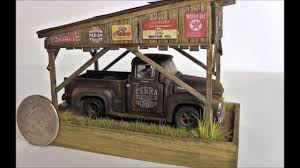 car junkyard diorama 1 64 barn find carport diorama for sale on ebay sold youtube
