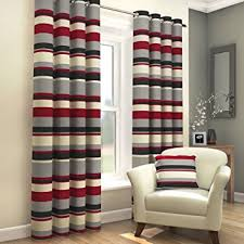 Black Gray Curtains Tony S Textiles Pair Of Striped Lined Window Treatment