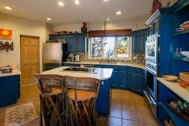 mexican kitchen ideas blue kitchen island design with wooden chairs for mexican kitchen