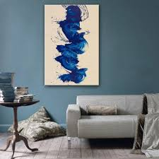free shipping hand painting oil painting blue abstract pattern
