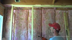 How To Insulate Your Basement by Framing A Basement Wall Youtube