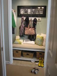 turn entry closet into mudroom home design ideas