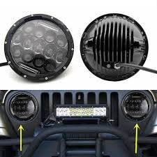 2017 jeep wrangler fog light bulb size 75w 7 inch round led headlight bulb for harley daymaker projector