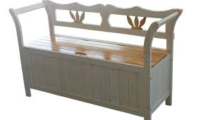 bench laudable paterson white storage bench favored gray and