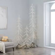 light up white trees west elm