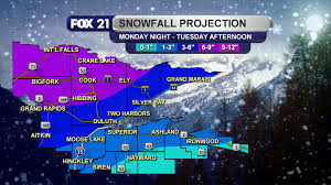 Snowfall Totals Map Northland Winter Returns With Snow Storm Fox21online