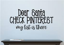 dear santa check pinterest vinyl decal wall stickers letters words